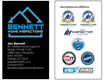 Bennett home inspection lw designs web design graphic design i designed business cards using the final logo and provided digital files of the logo to be used colourmoves